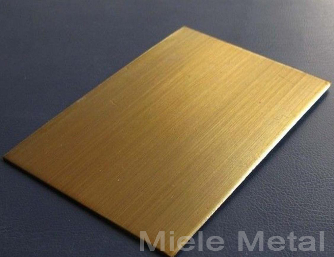 Standard Type Polished Brass Sheet
